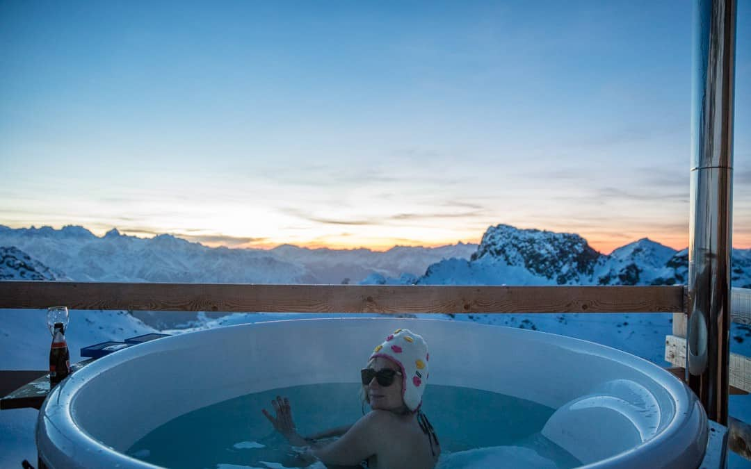 un bain nordique à 3000m